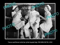 OLD HISTORIC PHOTO OF THE AUSTRALIAN NAVY HOSPITAL SHIP SS ORANJE 1941 NURSES 1