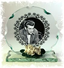 James Dean, Film Star, Cut Glass Round Plaque  Xmas Edition | Cellini Plaques #4