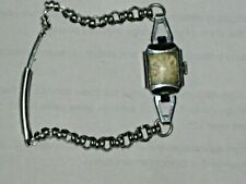 A Vintage Ladies Silver Plated Ornate Link Banded Wind up Watch (Unknown Maker)
