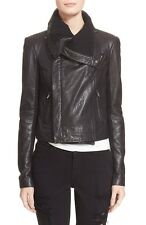 Veda Max Classic Women's Leather Black Jacket Size P