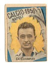 CALCIO FIGURINA  CALCIATORI   VAV  CAMPIONATO 1950   NAPOLI  DI  COSTANZO