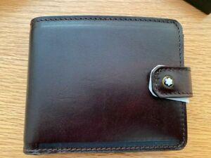 Mont Blanc 1926 Heritage Dark Brown Leather Wallet 116816 RRP £265 NEW