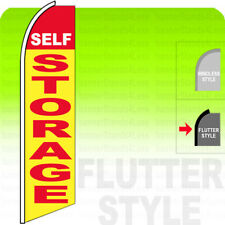 Self Storage Swooper Flag Feather Banner Sign 2.5x11.5' Tall Flutter Style - yb