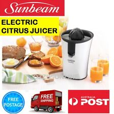 Sunbeam Electric Juicer Fruit Juicing Machine Orange Citrus 2x Juicing Cones