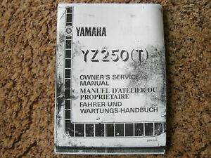 YZ250 YZ 250 YZ250T 1987 Photocopy Genuine Workshop Service Repair Manual