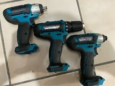 3 Pcs Makita 12 V Impact Wrench Wt02 Impact Driver Dt03 Drill Driver Fd05 Bare