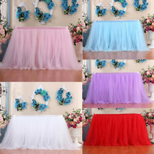 Table Skirt Cover Birthday Wedding Festival Party Decor Table Cloth Polyester UK
