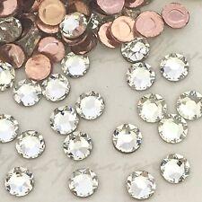 SWAROVSKI CRYSTALS HOT FIX iron on 250 x SS10 diamantes Rhinestones CLEAR HOTFIX