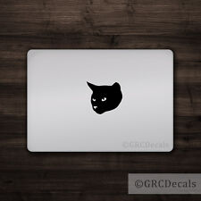 Cat Head - Mac Apple Logo Cover Laptop Vinyl Sticker MacBook Decal Cute Kitten