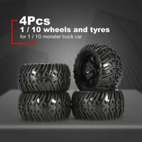 4Pcs 125mm Wheel Rim Tires for 1/10 Monster Truck Racing RC Car Accessories