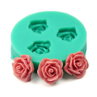 DIY Rose Flower Silicone Clay Soap Mold Mould Fondant Sugarcraft Cake Decorating