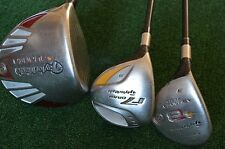 LH TaylorMade Burner 460 Driver, R7 #3 FW & Burner #3 Rescue Golf Club, Regular
