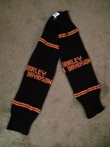 Harley Davidson Motorcycles Knit Arm Sleeves Warmers One Size Fits All - Rare!