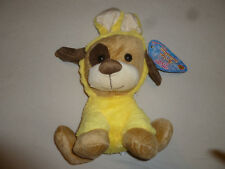 NEW DOG EASTER COLLECTION PLUSH TOY BUNNY EARS SUGAR LOAF NWT EASTER YELLOW