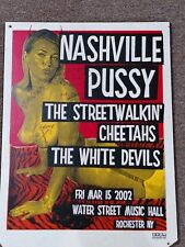 Nashville Pussy autographed poster
