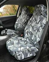 VW CADDY HEAVY DUTY CAMO GREY SEAT COVERS GOLF TIGUAN TOURAN PASSAT POLO 1-1