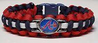 Atlanta Braves Handmade Paracord Bracelet OR Lanyard OR Deluxe Key Chain