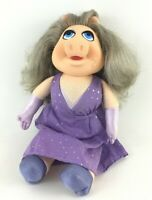 Fisher Price Miss Piggy Dress Up Muppet Doll Plush Stuffed Animal Vintage 80s