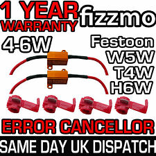 2x Led Canbus No Error carga resistor 4w 5w 6w W5w T10 T4w Ba9s h6w bax9s Festoon
