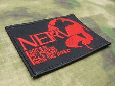 EVA NERV GOD'S IN HIS HEAVEN ALL'S RIGHT WITH THE WORLD Embroidery  Patch
