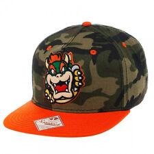 Nintendo BOWSER SNAPBACK HAT - Super Mario Wiiu Era Men's Camo Baseball Cap NEW