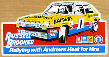 Russell Brookes / Andrews Vauxhall Chevette (2) Rally / Motorsport Sticker Decal