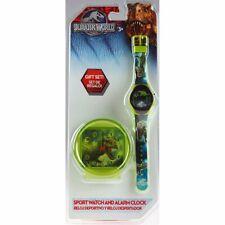 Jurassic World Dinosaur Child's Sports Watch And Alarm Clock Gift Set