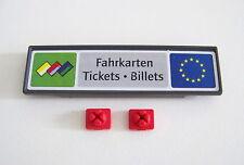 PLAYMOBIL (W232) GARE - Panneau Affiche Tickets Billets Quai de Gare 4303