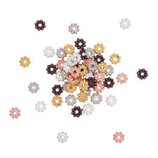 300pcs Alloy Flower Metal Beads Tiny Daisy Loose Spacer Beading Craft 5x1.5mm