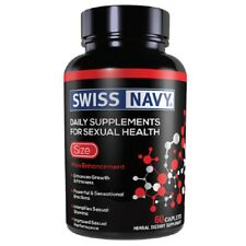 Swiss Navy Size 60Ct, Adult Male Enhancement Foreplay Sex Pills Supplements, New