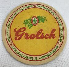 Grolsch Rock Slate Mate Beer Coasters Grey Gift Set Box Promotion Rare