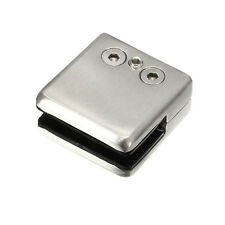4 Pcs/set Metal Square Bracket Clip Clamp Holder For Glass Shelf Handrails Top