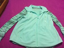 NWT Women's Made For Life Pastel Green Vest / LS Shirt Soft Fleece Large