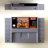 Undercover Cops Action Game Card For Nintendo SNES 16 Bit English US Version