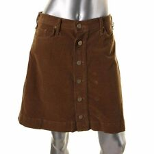 MCGUIRE NWT Rust Copper Brown Corduroy Button Front A-Line Skirt sz 27 $199