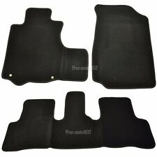 For 07-11 Honda CR-V 4Dr  Black Nylon OEM Front & Rear Floor Mats Carpet