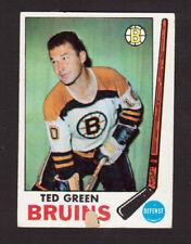 Ted Green Boston Bruins 1969-70 Topps Hockey Card #23 VG/EX