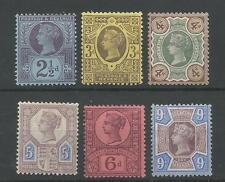 Il 1887-92 QV 2.5 D,3 D,4 D,5 D,6 D & 9 D fresca MONTATA MINT Jubilee FRANCOBOLLI CAT £ 247