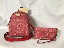 Michael Kors ABBEY Backpack Mini Leather Backpack & Slim Tech Wristlet NWT