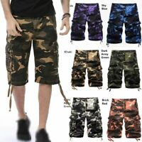 Mens Combat Casual Camo Military Army Camouflage Cargo Work Shorts Sizes