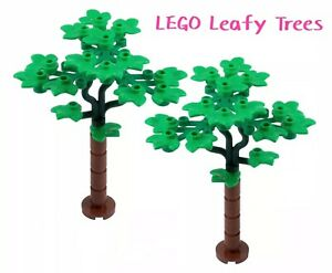 LEGO Leafy Trees 2 Sets MOC/Bushes /Leaves/palm Flowers 50 Pieces Creation New