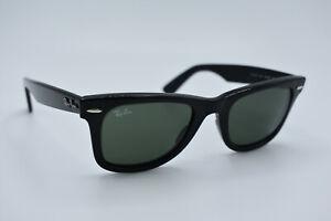 Ray-Ban Sunglasses RB 2140 901 Wayfarer Black Green Men Women Italy 50[]22 #3103