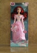 "New Disney Fairytale Princess Ariel Pink Dress Little Mermaid 17"" Singing Doll"