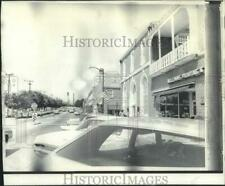 1969 Press Photo Cars on busy street of Kannapolis, NC, owned by Cannon Mills