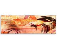 Leinwandbild Panorama orange rot gelb braun Paul Sinus Abstrakt_766_150x50cm