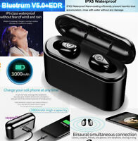 TWS Bluetooth 5.0 Headset 5D Twins Wireless Headphone Stereo Earphones Earbuds