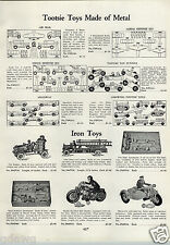 1933 PAPER AD Toy Cast Iron Harley Davidson Motorcycle Hill Climber Side Car ++