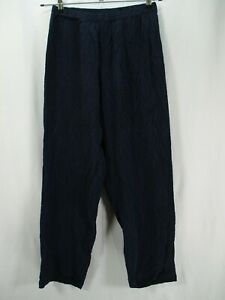 Chico's Private Edition Women's Size 1 Short Blue Slinky Pull On Pants Pintuck