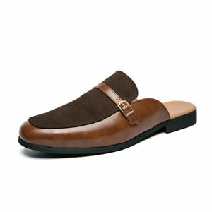 Mens Slingbacks Loafers Slippers Shoes Oxfords Slip on Flats Nightclub sz