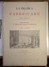 Antique Italy engineering 1895 Pratica del Fabricare Formenti Hoepli manufacture
